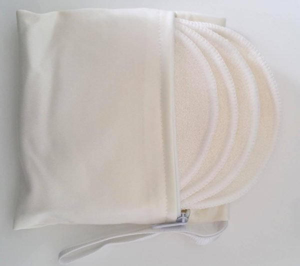 Washable breast pads made from super soft bamboo fabric